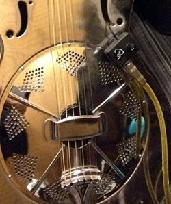 DOBRO ROUND NECK RESONATOR GUITAR PICKUP with FLEXIBLE MICRO-GOOSE NECK by Myers Pickups ~ See i ...