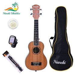 Naneki Soprano Ukulele Bundle. World's Most Traditional & Popular Sized Uke. Exception ...