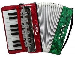 D'Luca G104-MX-PL Kids Piano Accordion 17 Keys 8 Bass RWG Perloid