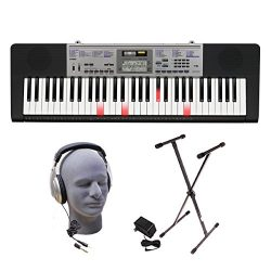 Casio LK-175 PPK 61-Key Premium Lighted Keyboard Pack with Stand, Headphones & Power Supply
