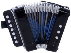 MAGIKON Children Button Accordion Toy , Also Nice As Performance Props (Black, Normal)