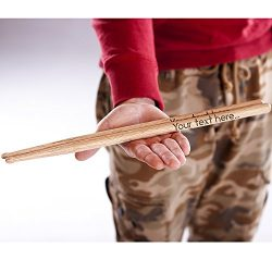 P Lab Personalized Drumsticks, 1 Pair of 5A & 5B Engraved Wooden Drumsticks, Great Christmas ...