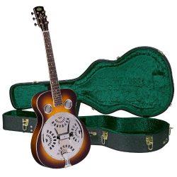 Regal RD-40V Studio Series Roundneck Resophonic Guitar with Hardshell Case – Vintage Sunburst