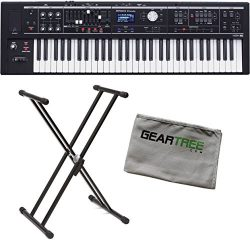 Roland VR-09-B V-Combo Live Performance Organ Keyboard Bundle w/Stand and Cloth