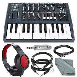Arturia Microbrute 25-Note Mini Keyboard Analog Synthesizer and Accessory Bundle w/ Stereo Headp ...