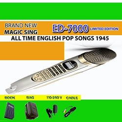 Magic Sing ED-7000 Karaoke Magic Mic Videoke Built-in 1,945 Songs with FM Module to WIRELESSLY T ...