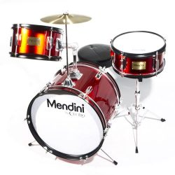 Mendini by Cecilio 16 inch 3-Piece Kids / Junior Drum Set with Adjustable Throne, Cymbal, Pedal  ...