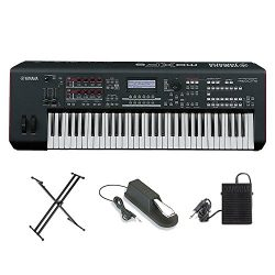 Yamaha MOXF6 Music Production Workstation With YAMAHA FC4 Piano-style sustain foot pedal, Yamaha ...