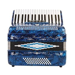 Rossetti Piano Accordion 72 Bass 34 Keys 5 Switches Blue