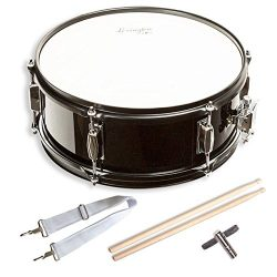 Snare Drum Set Student Steel Shell 14″ X 5.5″, Includes Drum Key, Drumsticks and Strap