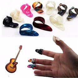 VizGiz 10 Pack Guitar Picks Finger Picks & Thumb Pick Set Nail Plectrums for Fingerstyle Aco ...