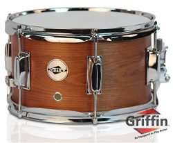 Popcorn Snare Drum by Griffin|Soprano Firecracker 10″ x 6″ Poplar Wood Shell with Hi ...
