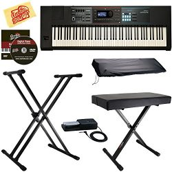 Roland JUNO-DS88 Synthesizer Bundle with Roland DP-10 Damper Pedal, Adjustable Stand, Bench, Dus ...