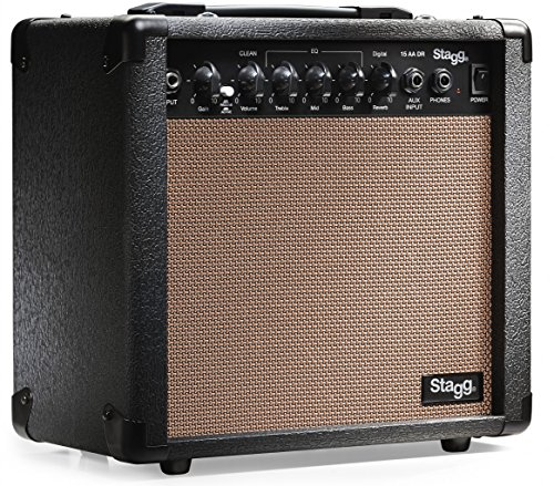 stagg 15 aa dr usa 15 watt acoustic guitar amplifier with digital reverb musicalbin musicalbin. Black Bedroom Furniture Sets. Home Design Ideas