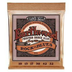 Ernie Ball Earthwood Rock & Blues Phosphor Bronze Acoustic String Set .010 – .052