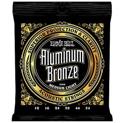 Ernie Ball Aluminum Bronze Medium Light Acoustic Set.012 – .054