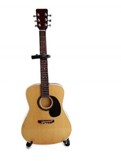 Axe Heaven AC-001 10-Inch Classic Natural Finish Acoustic Miniature Guitar Replica Collectible,  ...