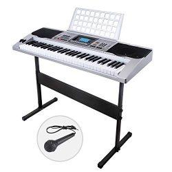 LAGRIMA Electric Piano Keyboard 61 Key Music Digital Electronic Keyboard Organ Touch Sensitive w ...