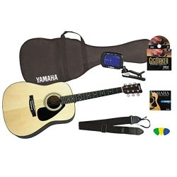 Yamaha Gigmaker Standard Acoustic Guitar w/Gig Bag, Tuner, Instructional DVD, Strap, Strings, an ...