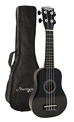 Martin Smith UK-222-BK Soprano Ukulele, Black