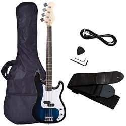 Electric Bass Guitar, Safeplus Starters Acoustic Guitar Full Size 4 String Package with Guitar B ...