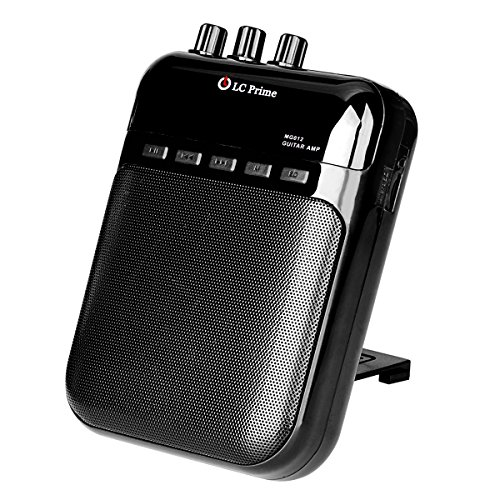 Aroma Guitar Amp Mini Portable Clip Amplifier Speaker Recorder 2 in 1 Chargeable w/ TF Card Slot ...