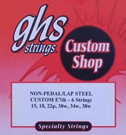 GHS Custom Lap Steel Guitar Strings – E7th-6 Strings, Gauges 15-38W – 2 Set