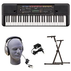 Yamaha PSR-E263 PKY 61-Key Keyboard Pack with Headphones, Power Supply, Secure Bolt-On Stand