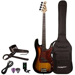 Sawtooth ST-PB-VBT-KIT-1 EP Series Electric Bass Guitar with Gig Bag & Accessories, Vintage  ...