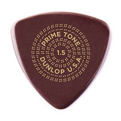 Dunlop 24513150003 Primetone Triangle 1.5mm Sculpted Plectra (Smooth) – 3 Pack