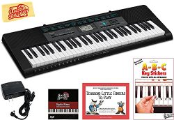 Casio CTK-2550 Portable Keyboard Bundle with Power Supply, Removeable Stickers, Instructional Bo ...