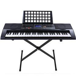 Boshen 61 Key Electronic Digital Piano Electric Organ Full Size Portable Electric Keyboard (100  ...