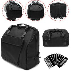 MAUBHYA Thick Padded 120 BASS Piano Accordion Gig Bag Accordion Cases Accordion Backpack