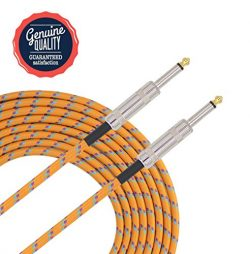 Sonobono Professional Noiseless Music Instrument Cable 1/4-Inch Straight with Braided Tweed Wove ...