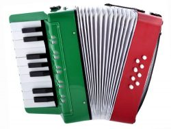 D'Luca G104-MX Kids Piano Accordion 17 Keys, 8 Bass RWG