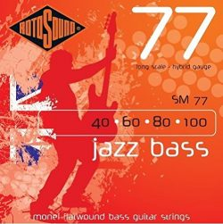 Rotosound SM77 Monel Flatwound Hybrid Bass Guitar Strings (40 60 80 100)