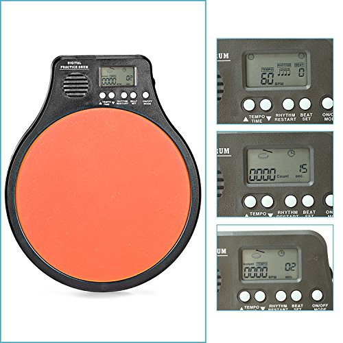 Neewer® 3-in-1 Digital LCD Display Portable Drum Practice Pad Metronome Drummer Training Pad wit ...