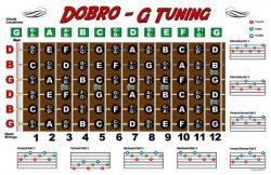 Dobro Fretboard Chart Resonator Guitar Poster – G Tuning