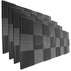 96 Pack Acoustic Panels Studio Foam Wedges 1″ X 12″ X 12″