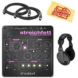 Waldorf Streichfett String Synthesizer Bundle with Headphones, MIDI Cable, and Austin Bazaar Pol ...