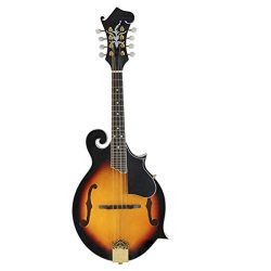 ADM Traditional F Style Solid Spruce Top Mandolin with F Hole, Sunburst Gloss