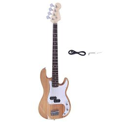 Yoshioe Electric Bass Guitar Full Size 4 String Rosewood Basswood Fire Style Exquisite Burning B ...