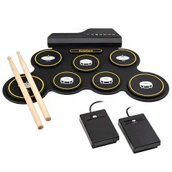 Ivation Portable Electronic Drum Pad – Battery Operated (No Speakers) – Digital Roll ...