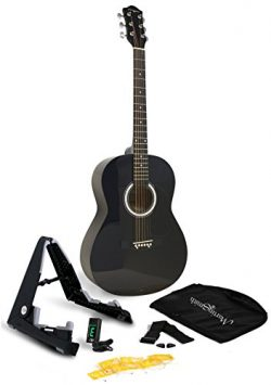 Martin Smith 6 String Acoustic Guitar SuperKit with Stand, Tuner, Gig Bag, Strap, Picks and Stri ...