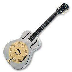 Kay KRS301 Metal Resonator Guitar – Chrome and Gold