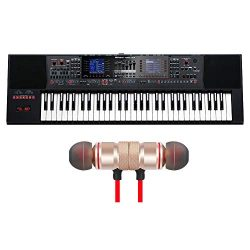 Roland E-A7 61-key Arranger Keyboard Includes Free Wireless Earbuds – Stereo Bluetooth In- ...