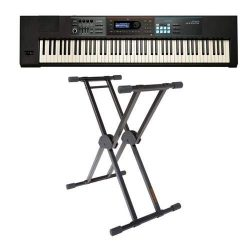 Roland JUNO-DS88 Gig-Ready 88-Note Weighted-Action Keys Synthesizer – Bundle With KS-20X D ...