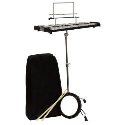 Mendini MGS-30 Educational Glockenspiel Bell Kit with Practice Pad, Mallets, Sticks and Bag