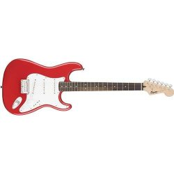 Fender 6 String Bullet Stratocaster Electric Guitar-Hard Tail-Rosewood Fingerboard-Fiesta Red, ( ...