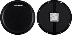 Ahead S-Hoop Marching Practice Pad with Snare Sound Black, Black 14 in.